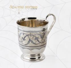 Серебряная кружка Кубачи