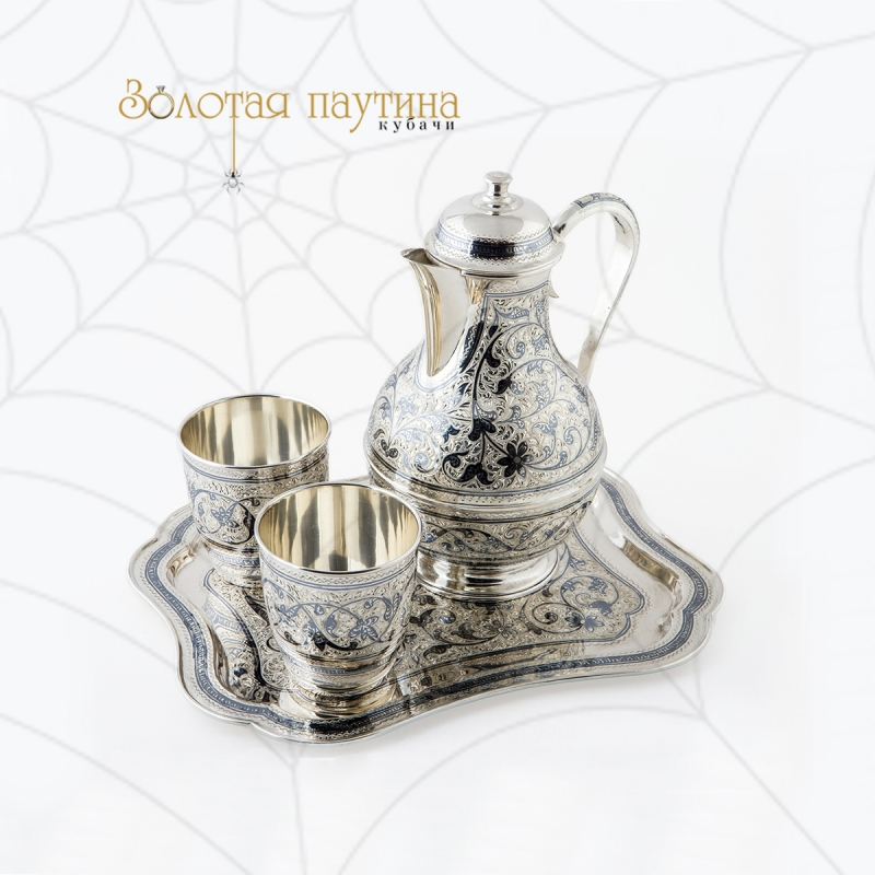 Набор для воды из серебра