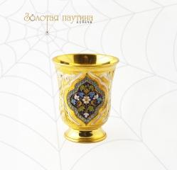 Серебряный стакан, с позолотой