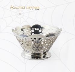 Серебряная ваза для фруктов