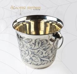 Серебряное ведро для шампанского