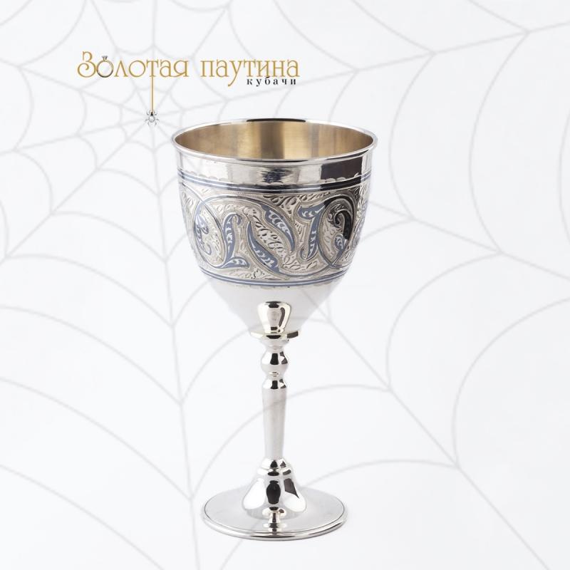 Фужер серебряный Кубачи